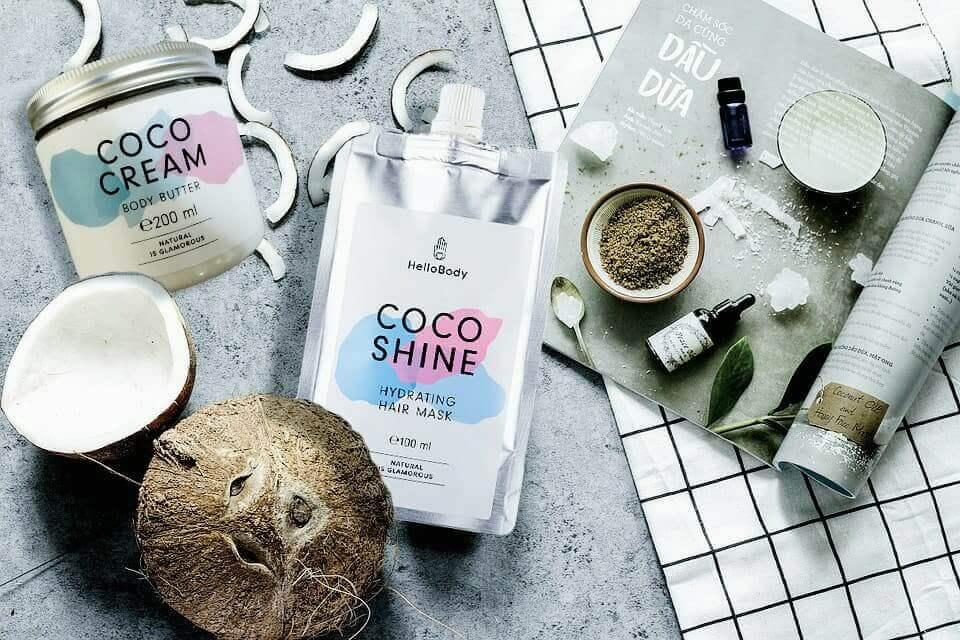 Coco shine et Coco Cream de Hello Body par la revue de Kathleen blogueuse Lifestyle