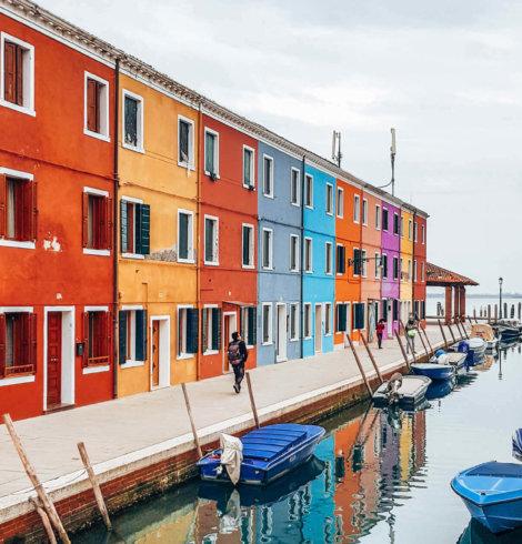 Burano, l'île colorée en Italie
